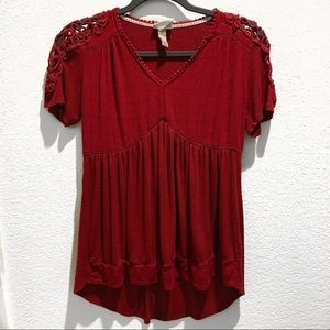 Knox Rose Red Crochet Top
